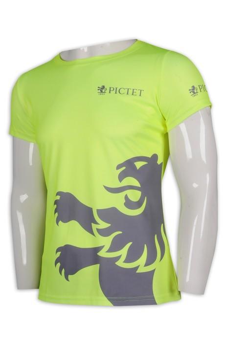 T951 訂製女裝淨色T恤 印花T恤 100%滌 T恤製造商