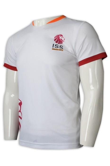 T965 設計撞色領男裝T恤  供應吸濕排汗運動T恤 T恤製衣廠