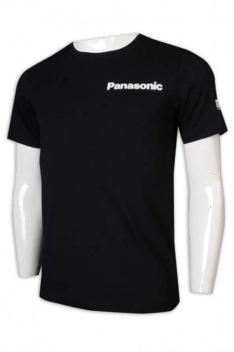 T999 製做男裝T恤 Panasonic 男裝T恤 電競 T恤供應商     黑色  男生 短 t