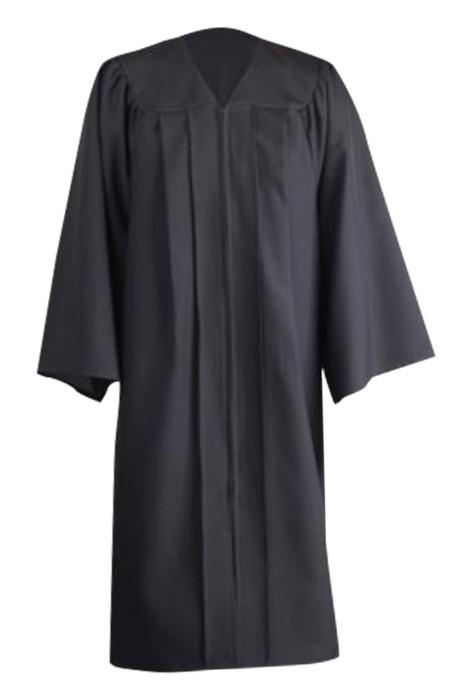 SKDA028 製造畢業袍 設計淨色畢業袍 高中中學 畢業袍中心