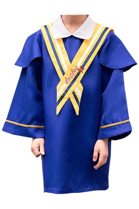 SKDA030  製造長袖畢業袍  設計繡花披肩 魔術貼 幼兒園 小學畢業袍 畢業袍供應商