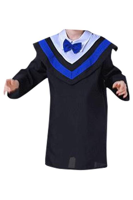 SKDA031  製造長袖畢業袍  訂製後背綁帶 蝴蝶結畢業袍 幼兒園 小學畢業袍 畢業袍供應商
