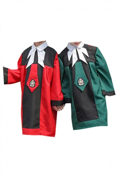 SKDA032  大量訂製拼接色畢業袍 個人設計領帶 魔術貼 幼兒園小學畢業袍 畢業袍中心