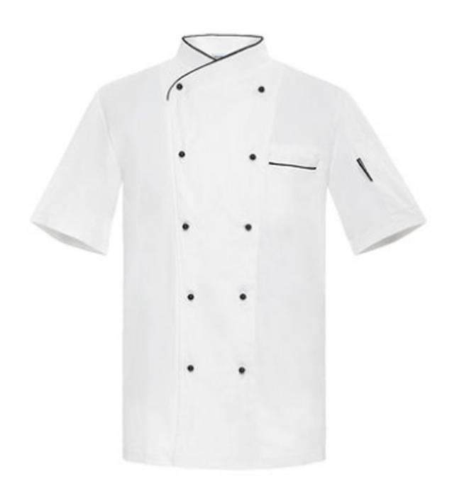 CHKOUT-810201  設計短袖廚師制服  大量訂造廚師制服  度身訂造廚師制服 廚師制服供應商
