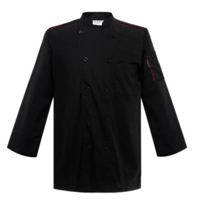 CHKOUT-U127C0401B   訂製長袖廚師服  製造時尚廚師服  網上下單廚師服 廚師服製衣廠