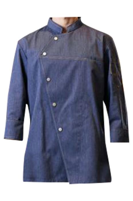 SKKI049 大量訂製長袖廚師制服 設計立領 酒店 烘焙 西餐廳 中餐廳 鐵板燒 寬鬆袖口 廚房制服中心