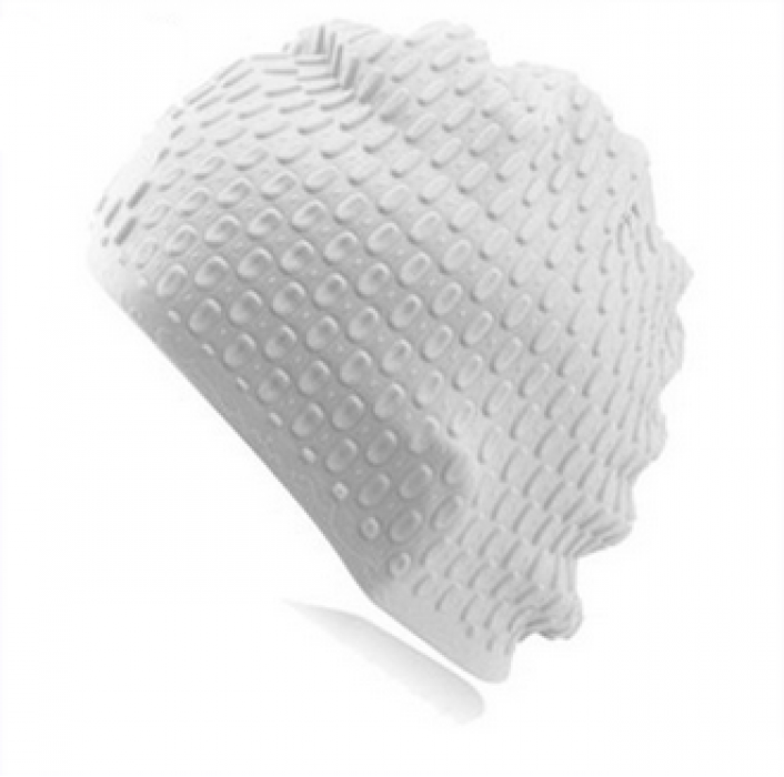 SKHA001 製造新款時尚游泳帽  設計成人男女通用矽膠泳帽   定購泡泡水滴游泳帽   防滑游泳帽製造商  矽膠  泳帽價格