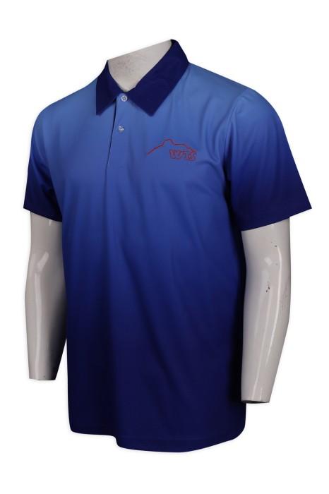 P1040 供應時尚漸變熱升華男裝Polo恤 大量訂造Polo恤 Polo恤專門店