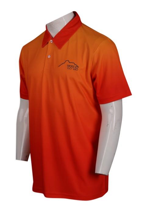 P1045 設計全件熱升華男裝寬鬆Polo恤  Polo恤專門店