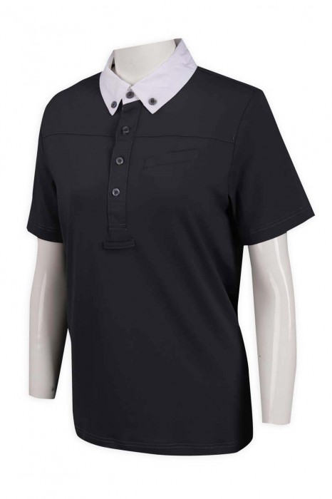 P1054 訂做扁機領印花 4粒鈕 胸筒 領鈕 馬術 制服 85%滌 15%棉 澳洲 Polo恤製衣廠