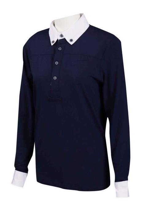 P1055 製作馬術 制服  4粒鈕 胸筒 85%滌 15%棉 澳洲 Polo恤生產商