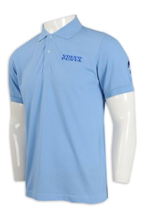 P1078 設計男裝淨色Polo恤 35%棉 65%滌 策略 培訓 職員 制服 Polo恤生產商