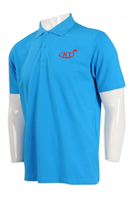 P1082 訂製淨色Polo恤 寬鬆 Polo恤專門店