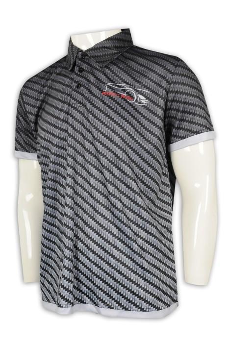 P1123  供應條紋男裝Polo恤 網上下單短袖Polo恤 Polo恤hk中心