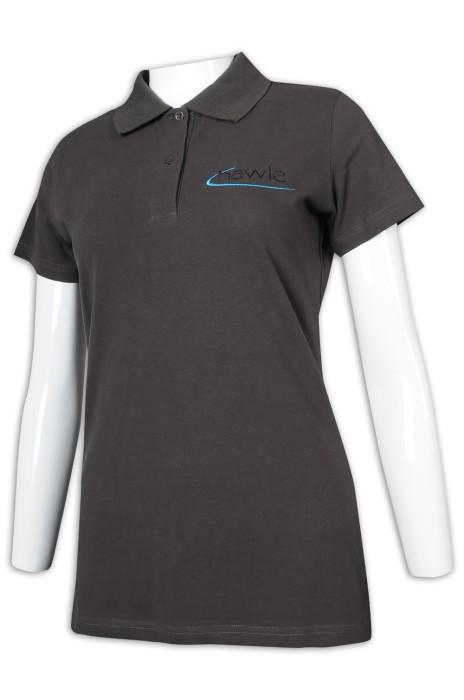 P1183 訂做女裝短袖Polo恤 繡花logo Polo恤供應商
