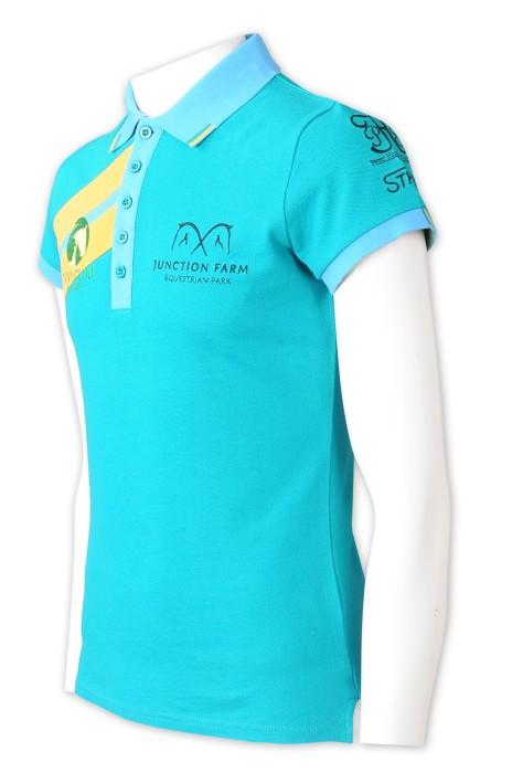 P1322   設計繡花logo    訂製上胸撞色Polo   側邊開叉   撞色領撞色衫袖    5粒鈕POLO   賽馬活動    澳洲  小馬俱樂部