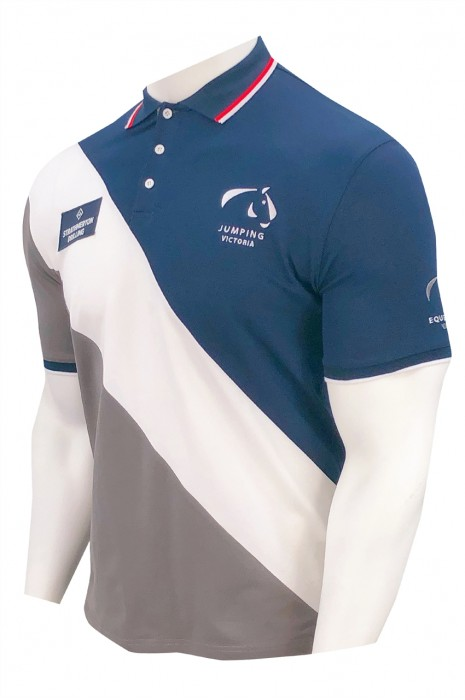 P1336   訂做大碼男裝T恤   設計3個拼色T恤   撞色領 、袖    96%棉   4%拉架   衫側邊開衩設計   澳洲