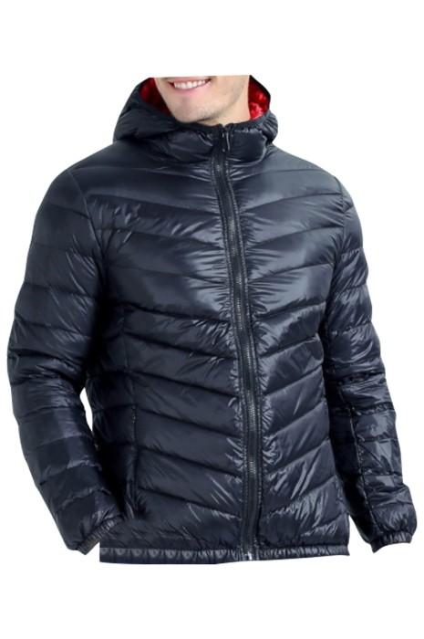 SKVM004 訂製輕薄連帽羽絨服 設計拉鏈口袋 羽絨服供應商 冬天 寒冬 送暖