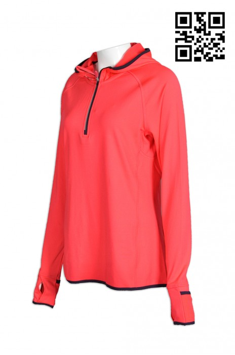 cb414f67e51ad9 space W182 online ordering ladies  sports wearing clothing tailor made  professional reflective assorted color zipper sports