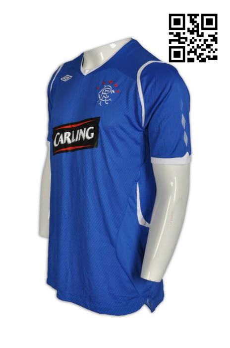 W192  設計功能性運動衫   足球波衫 供應吸濕排汗運動衫  製造繡字運動衫   功能性運動衫中心     彩藍色