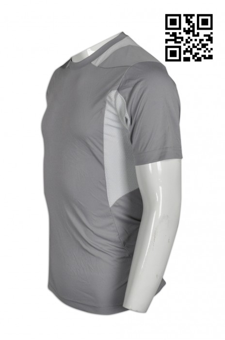 W194 設計緊身男士運動衫  供應緊身修身運動衫  訂購輕薄透氣運動衫 運動衫專門店000     中灰色  撞色淺灰色