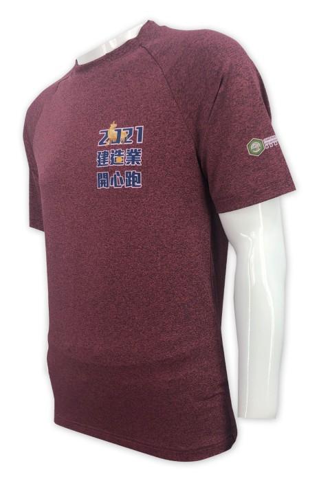 W216  訂做跑步運動衫   設計T恤印花logo   女裝跑步運動衫   建築業  運動衫製造商