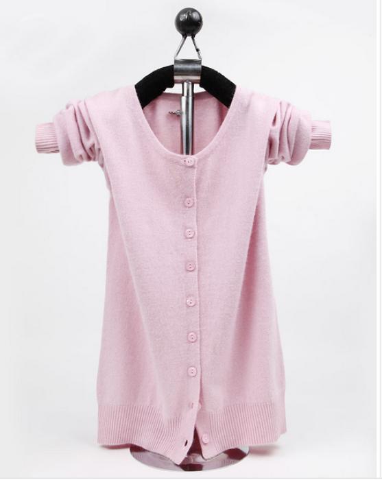 SKSW006  網上下單女裝v領冷外套  供應羊絨打底針織開衫外套 製造大碼短款毛衣  毛衣製衣廠  毛衣價格