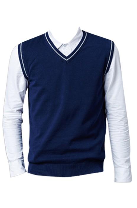 SKSW009  訂購青少年初中高中學生團購針織毛背心  馬甲純棉V領無袖馬夾 供應羊絨馬甲毛衫 現貨 價格
