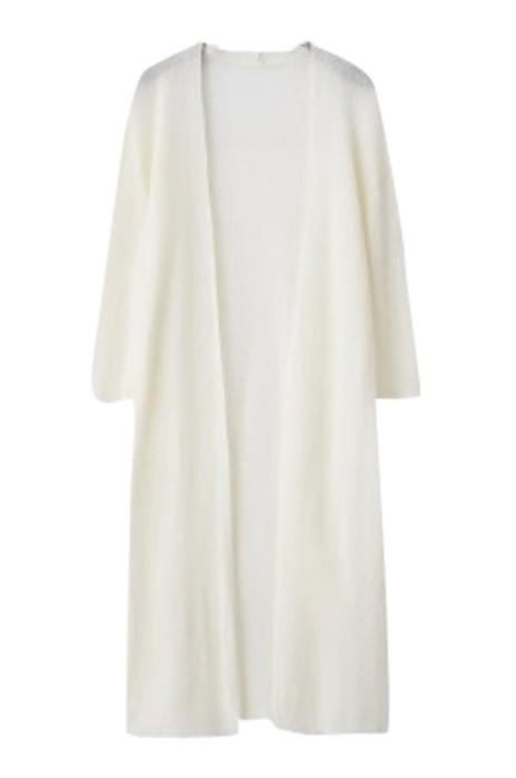 SKSW014   設計中長款針織衫開衫 女七分袖冰絲修身防曬衣 外搭披肩夏季薄款空調衫