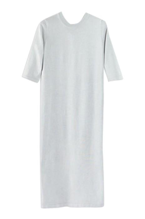 SKSW021  訂購薄款開叉針織裙  毛衫針織連衣裙  寬鬆中袖長打底裙  毛衫裙製造商