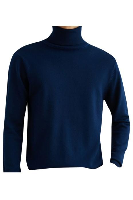 SKSW027   訂造秋冬高領羊毛衫   毛衣男翻領針織衫   修身休閒內搭保暖加厚打底衫上衣