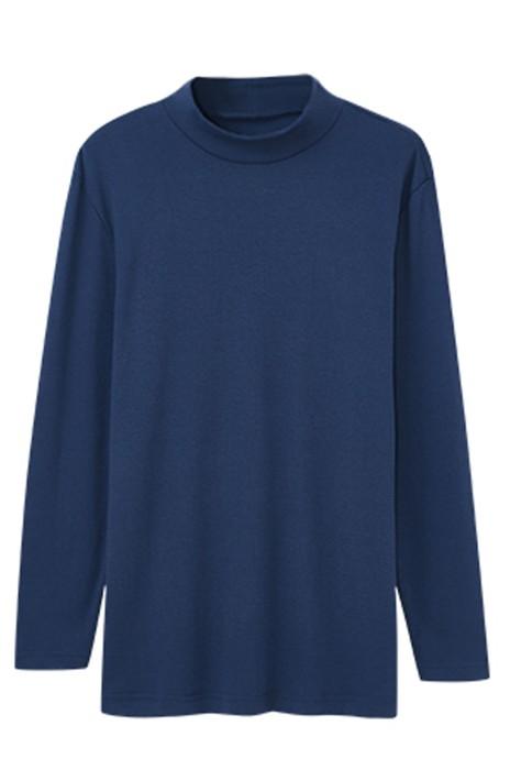 SKSW028   訂造男秋冬純棉半高領單件   男士保暖上衣貼身防寒    全棉秋衣