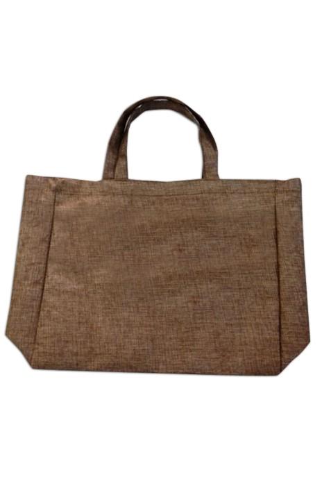 EPB003 褐色帆布袋  製造購物手提袋  定做帆布環保袋 帆布袋專門店