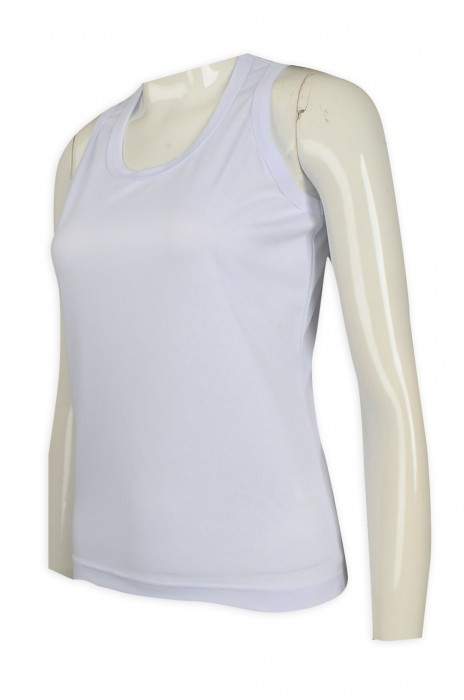 VT212 訂做白色女款修身背心T恤   背心T恤hk中心    白色