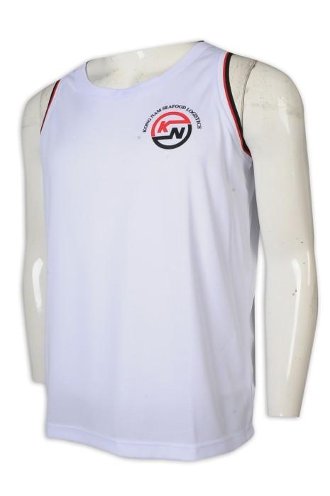 VT230 訂做背心T恤 無袖背心 工作服背心 印花 背心 食品 物流公司 T恤專門店    白色