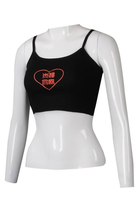 VT233 訂製健身背心T恤  時尚印花LOGO背心T恤 背心T恤工廠 黑色