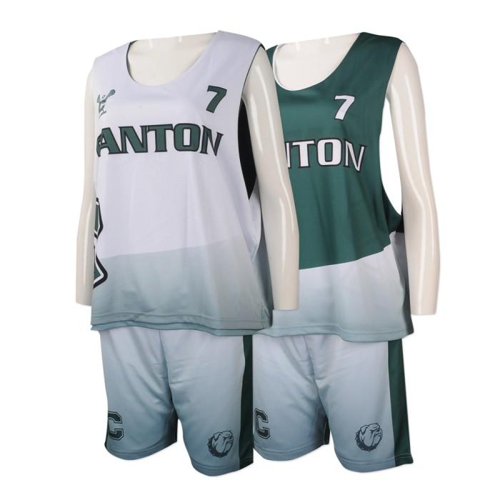 WTV151 度身訂造兩面穿運動套裝 網上訂購印花運動套裝 雙面穿 網球隊衫 美國 OIG 兩面穿運動套裝生產商    白色  墨綠色