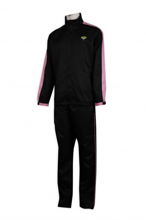 WTV161 訂購冬季運動套裝 100滌 香港寶達幼兒園 運動套裝專門店    黑色