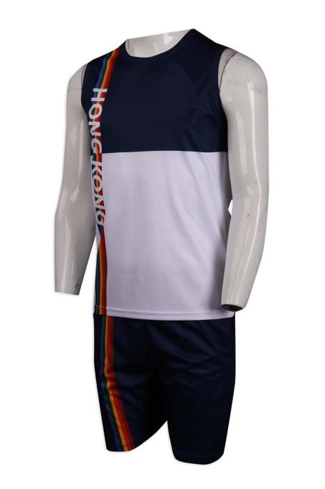 WTV159 訂做撞色款運動套裝 香港 代表運動衫 選手衫 運動套裝製造商      白色  撞色寶藍色