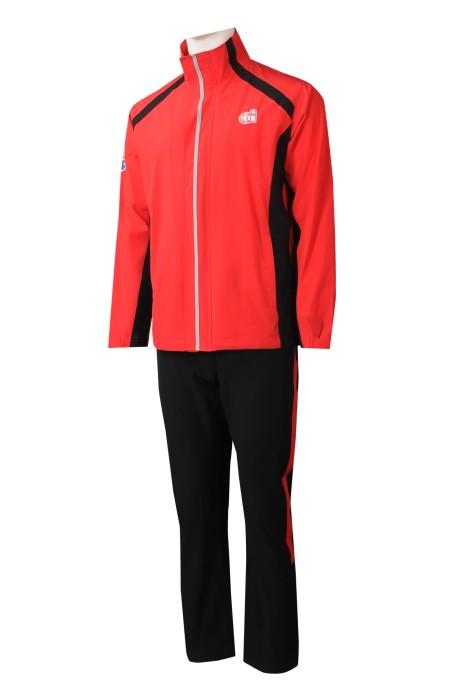 WTV176  網上下單男裝運動套裝  設計撞色魔術袖運動套裝  運動套裝中心   家庭活動 家長會 家教會