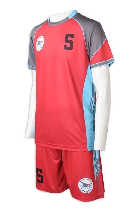 WTV177   來樣訂製籃球運動套裝   網上下單拼色款運動套裝   印花logo  紅色+灰色