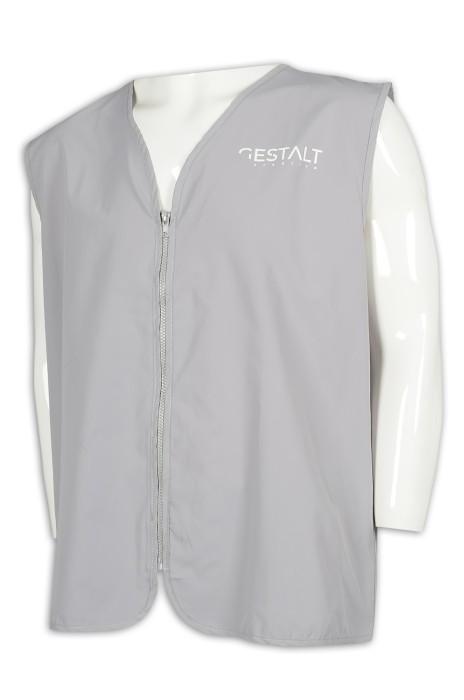 V192 訂做拉鏈背心外套 100%滌 背心外套供應商
