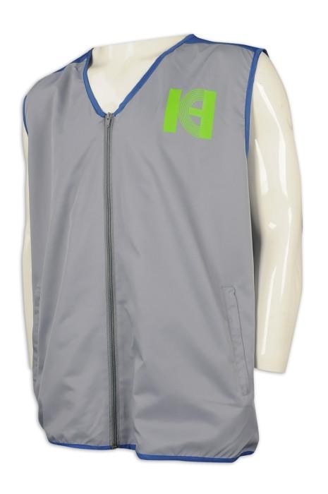 V195 設計撞色領背心外套 網上下單背心外套 義工制服 背心外套製衣廠
