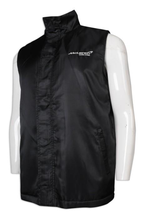 V198 製作黑色背心外套 車隊 繡銀 背心外套專門店