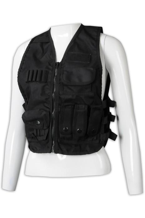 V204 訂製戰術背心外套  設計多袋女裝背心外套 背心外套專門店 黑色 WAR GAME