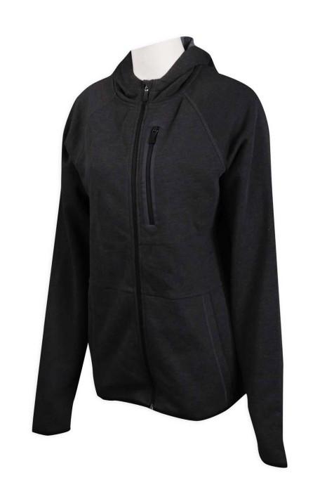 Z434 設計連帽衛衣外套 複合料 直身拉鍊 衛衣專門店