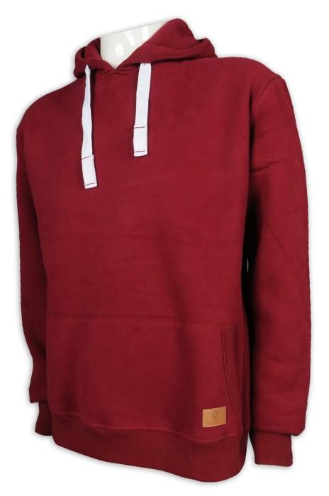Z472 設計淨色衛衣 加粗 帽繩 款式 衛衣製造商