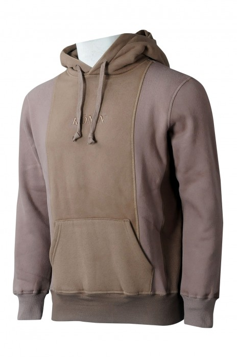Z512 訂做男裝連帽衛衣  自訂撞色刺繡衛衣 衛衣專門店 瑞士 男時裝