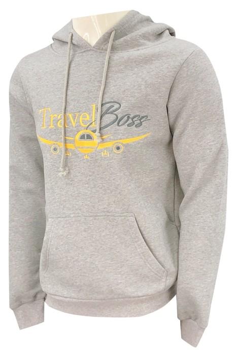 訂做灰色連帽衛衣  設計黃色  灰色絲印LOGO    連帽衛衣   零售   服裝設計   美國   衛衣供應商    衛衣設計中心   尊貴 旅遊 野外 探險 旅遊 歷險   Z546