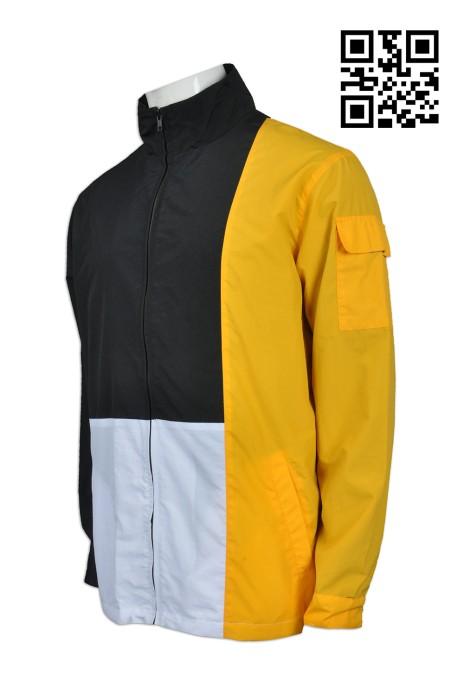 J646 設計個性風褸款式   訂做LOGO風褸款式  手機袋   製作男裝風褸款式   風褸生產商